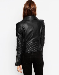ASOS Biker Jacket with Structured Shoulder