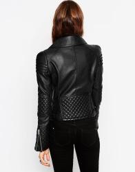 ASOS Biker Jacket with Structured Shoulder